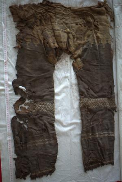 These 3000-year-old Chinese trousers wouldn't look too out of place on a high street, or a teenybopper (Image: Mayke Wagner/German Archaeological Institute)