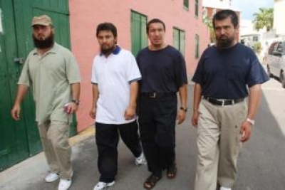 Huzaifa, Abdullah, Khalil and Salahidin, four previously released Uyghurs in Bermuda in 2009 (Photo: William Farrington)