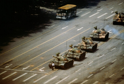 This iconic image appeared in news reports around the world, and is one of the most famous photos ever taken.