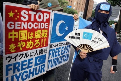 Uyghur demonstration in Japan. Photo courtest of Chính's news