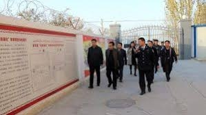 Chinese Officials attending opening ceremony of new Internment camp in the region